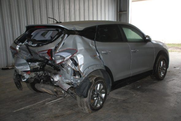 Image of a rear ended car