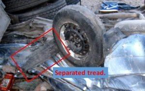 Car Accident Tire Separation Tread